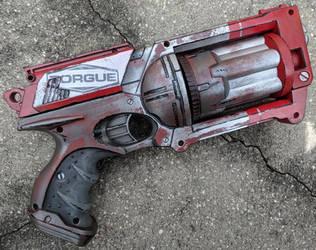 Custom Borderlands style Nerf Maverick prop by firebladecomics