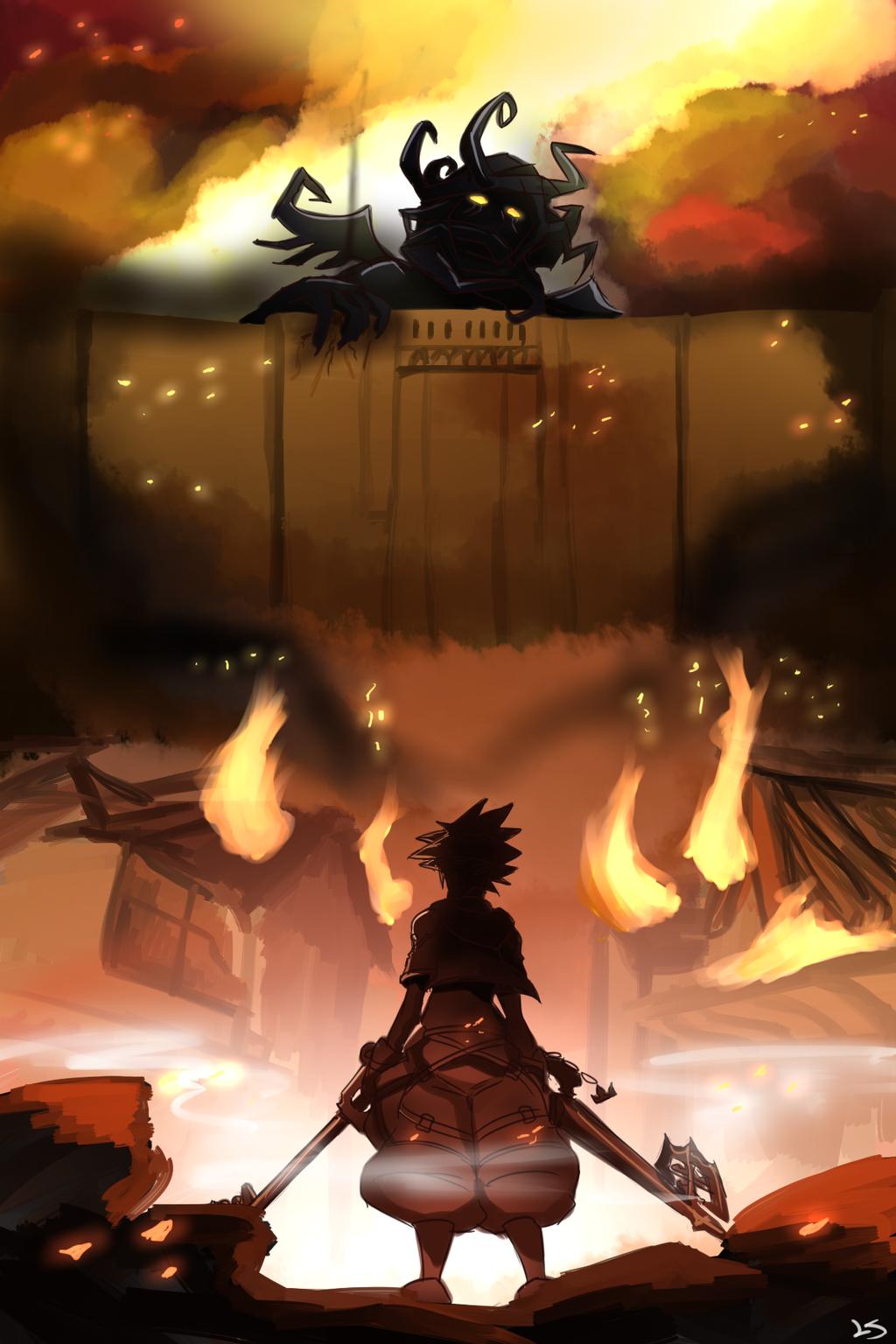 Shingeki No Kingdom Hearts by flygerXamber