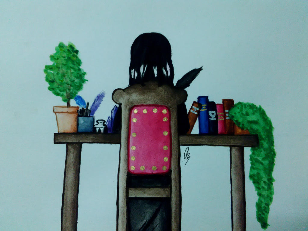 Witchy Art Challenge #4 by DrawsFromMyMind