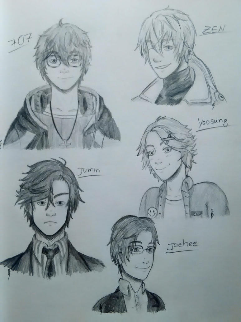 Mystic Messenger doodles~ by DrawsFromMyMind