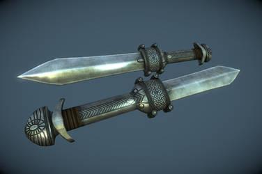 Ancient Nordic Dagger by InsanitySorrow