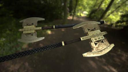 Gimli's Battle Axe by InsanitySorrow