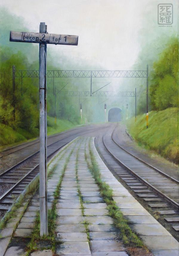 Along the Railroad. Platform 2 by SayakoRush