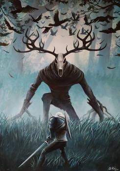 Witcher vs Leshen