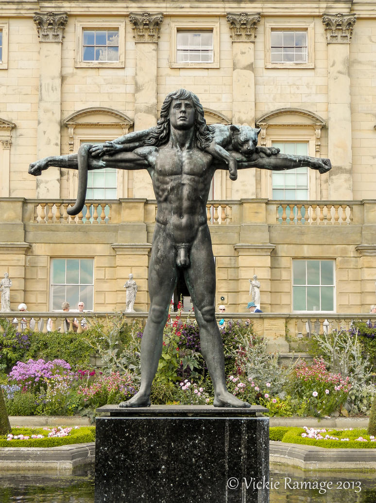 orpheus and the leopard  harewood house uk by vickiedesigns on deviantart