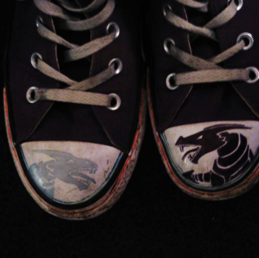 62ad1e412764 Sharpie Converse by wolfie6 on DeviantArt