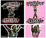 Zombie Crossfit T-shirt Designs by blindthistle