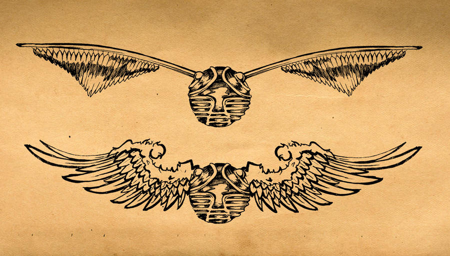 Golden Snitch Tattoo 2 by blindthistle