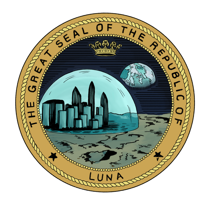 Lunar Republic Seal by blindthistle
