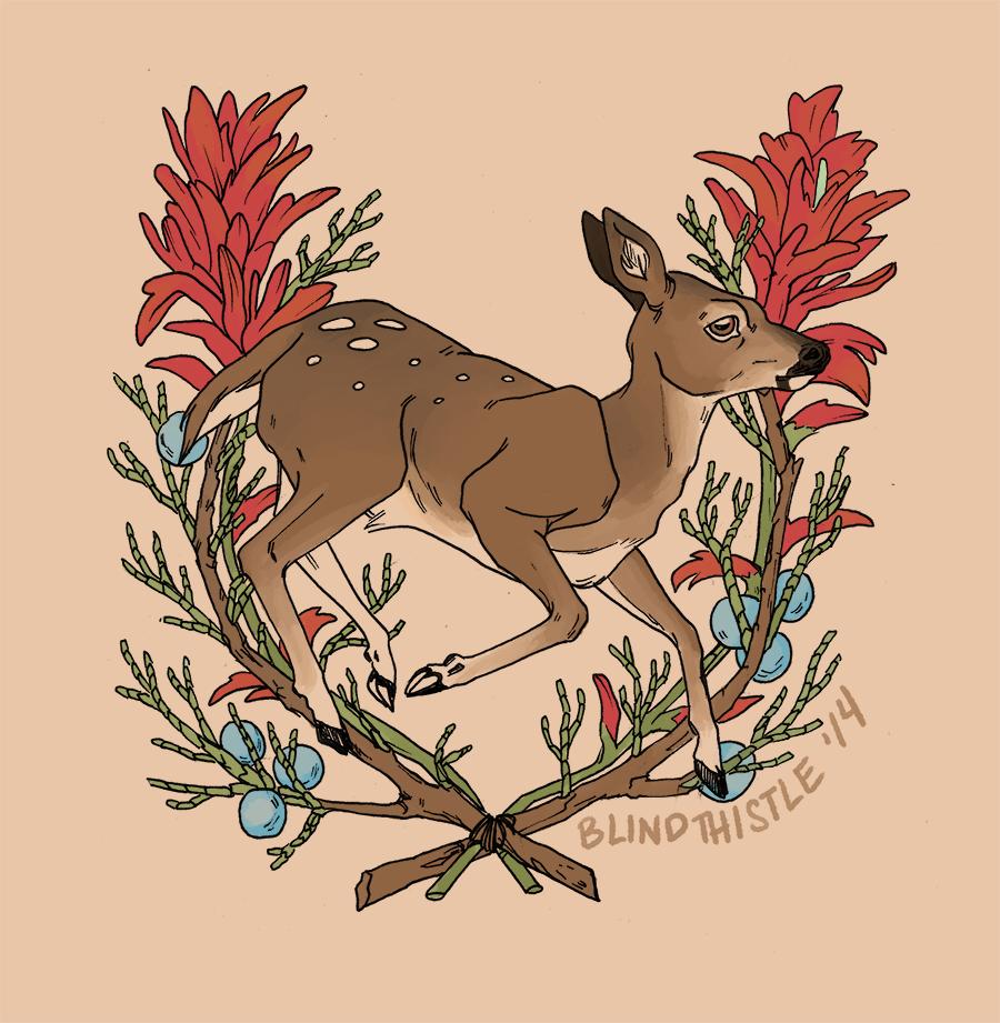 deer tattoo by blindthistle on deviantart. Black Bedroom Furniture Sets. Home Design Ideas