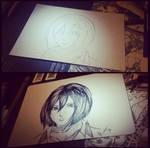 Attack on Titan - Mikasa by Rin-Te