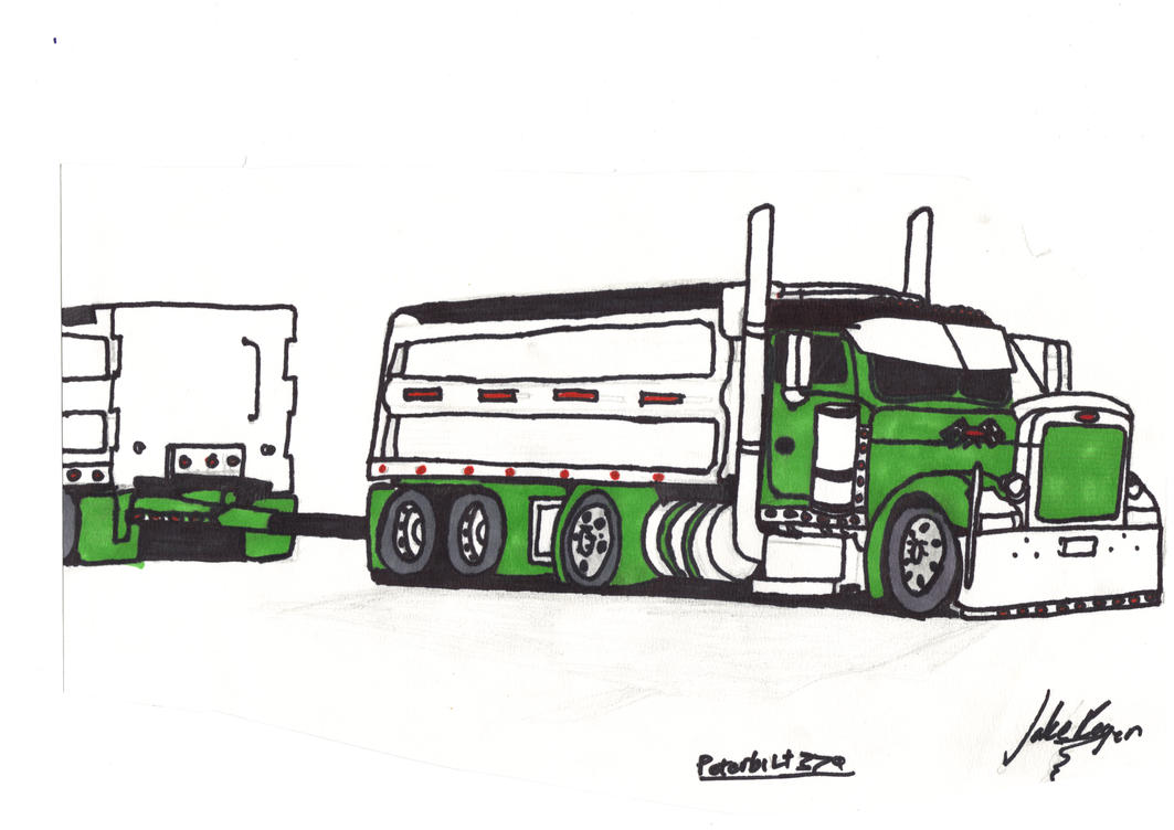 Peterbilt Dump Truck Coloured By JakeRogers