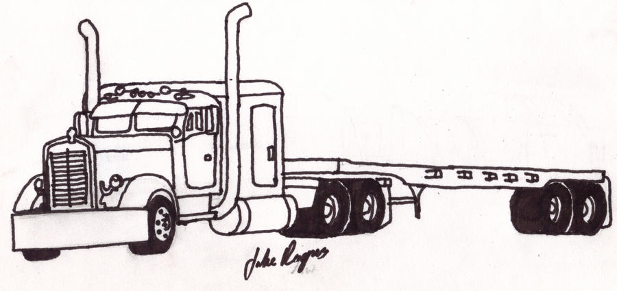 semi truck coloring pages free - photo#28