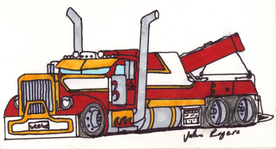 peterbilt drawings peterbilt wrecker by jakerogers on deviantart