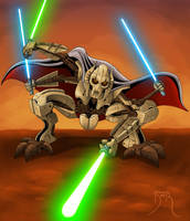 General Grievous Pinup by Teyowisonte