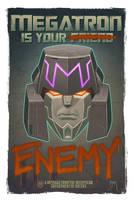Megatron Propaganda Poster by Teyowisonte