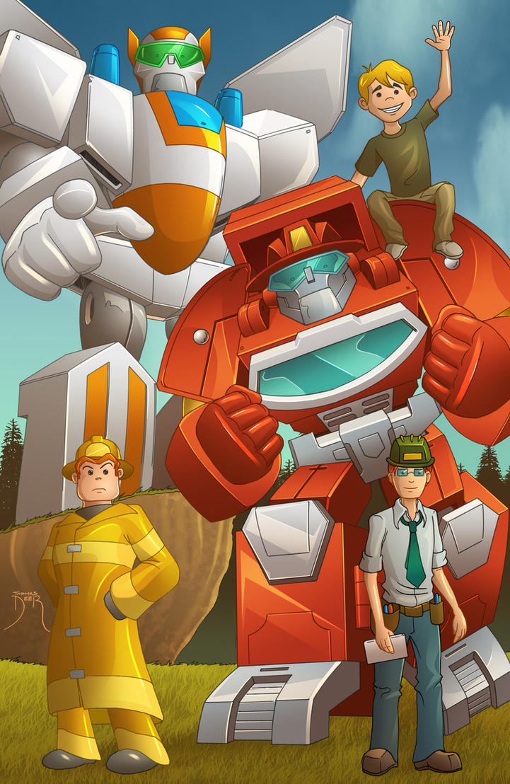 TF Rescue Bots Pinup 2 by Teyowisonte