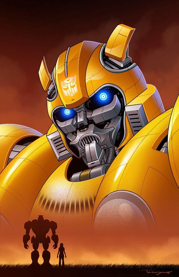 Bumblebee Illustration by Teyowisonte