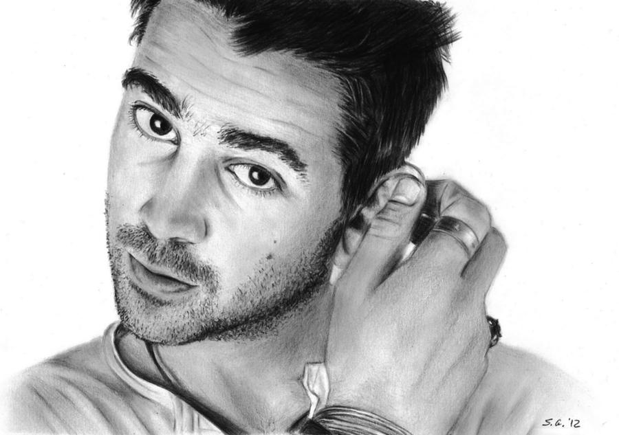 Colin Farrell - Pencil portrait by Skylark6277