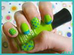 Nail Art- Blue Green