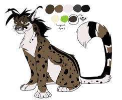 king cheetah caracal by icelion87