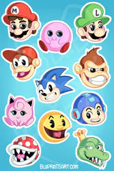 Smash Sticker Sheet by BluevanDeurs