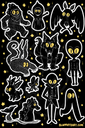 Cryptids Sticker Sheet by BluevanDeurs