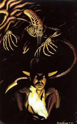 Indiana Jones and ALIENS by artguyNJ