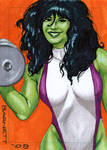 She-Hulk work-out