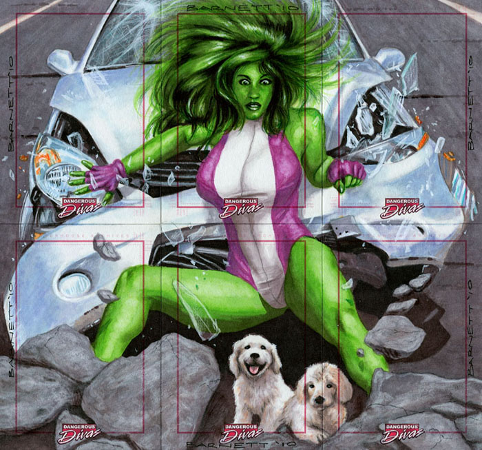 Dangerous Diva- She-Hulk by artguyNJ