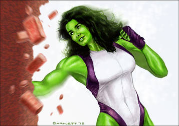 Angie Harmon as the She-Hulk by artguyNJ