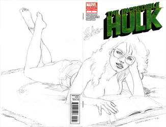 She-Hulk sketch cover by artguyNJ