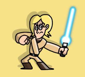 Luke Skywalker - Jedi in training!