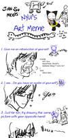 Nyu's Art Meme - John Edition by JohnSu