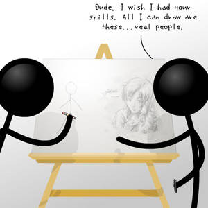 Stick People Drawing