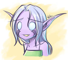 Night Elf Girl by Danell9