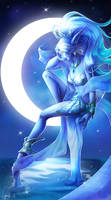 Elune the Moon Goddess by Danell9
