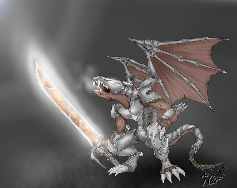 Armored Dragon (Colored) by Yuseiran on DeviantArt