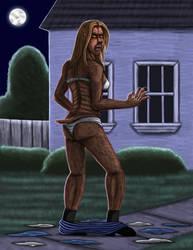 Dr. Beth, werewolf woman Part 3 by hairyboy712