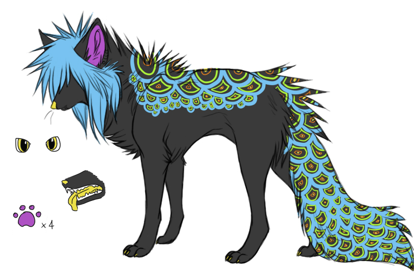 Make an Offer - wolf adoptable -SOLD- by xBlue-Lullabyx