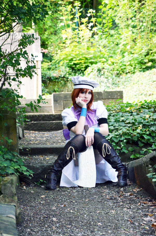 Rena Ryuuguu Cosplay - waiting~ by Natsumi-angel