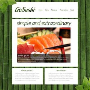 GoSushi - Minimalistic sushi