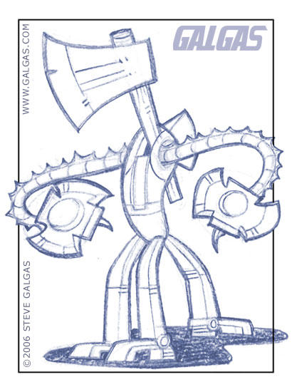 Chopbot- Pencils by g-tron3000