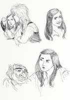 Sarah sketches by Cris-Nicola