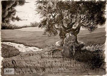 Inktober day 14 TREE by Cris-Nicola