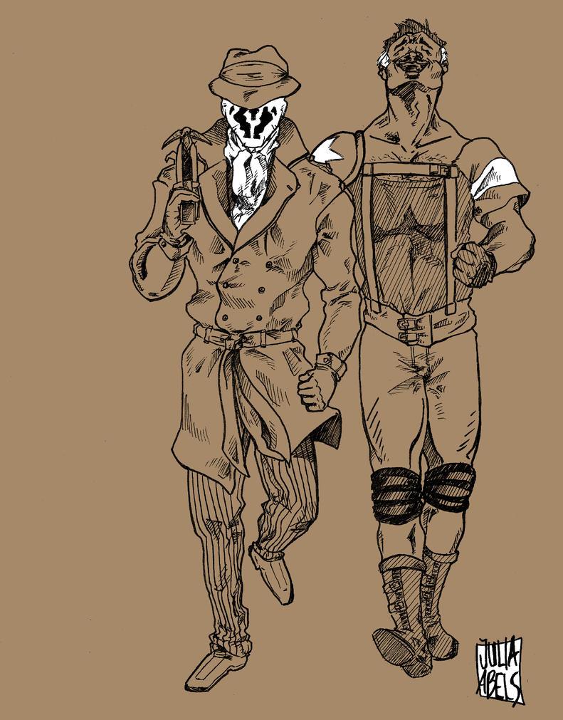 Rorschach and the Comedian by DerVollmondwaechter