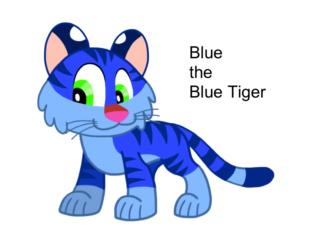 Blue the Blue Tiger by AhO4464