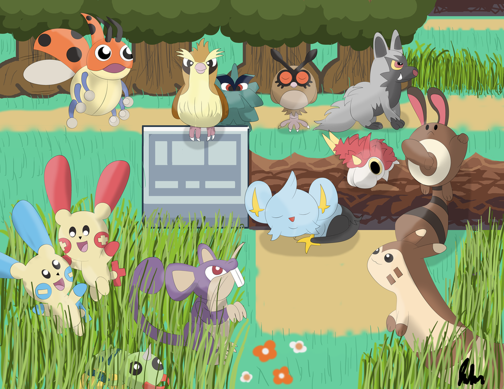 Pokemon route 1 by Jpolte