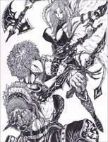 BATTLE ART: Thief VS Succubus by simplykit19