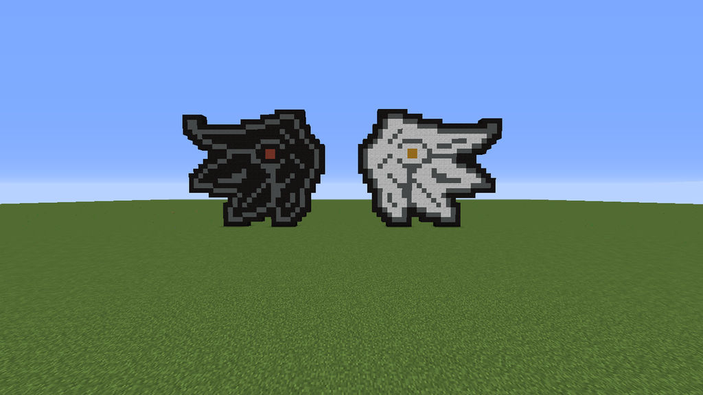 Angel Demon Wings Pixelart In Minecraft By Yousicrafter On
